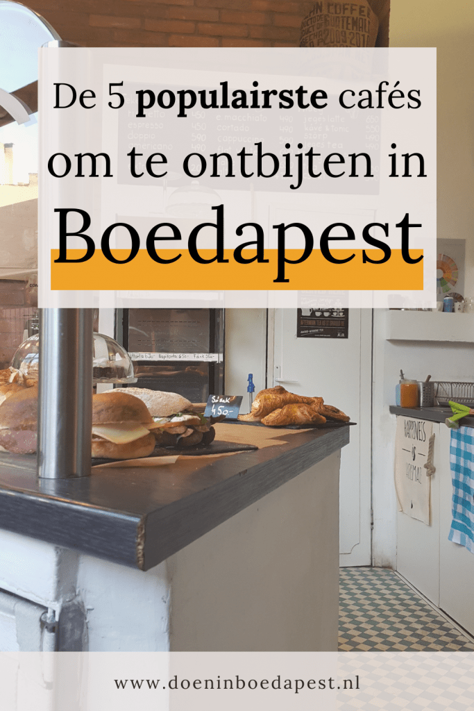 De 5 populairste cafés om te ontbijten in Boedapest Pinterest afbeelding